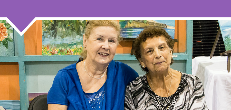 Two women in our seniors program