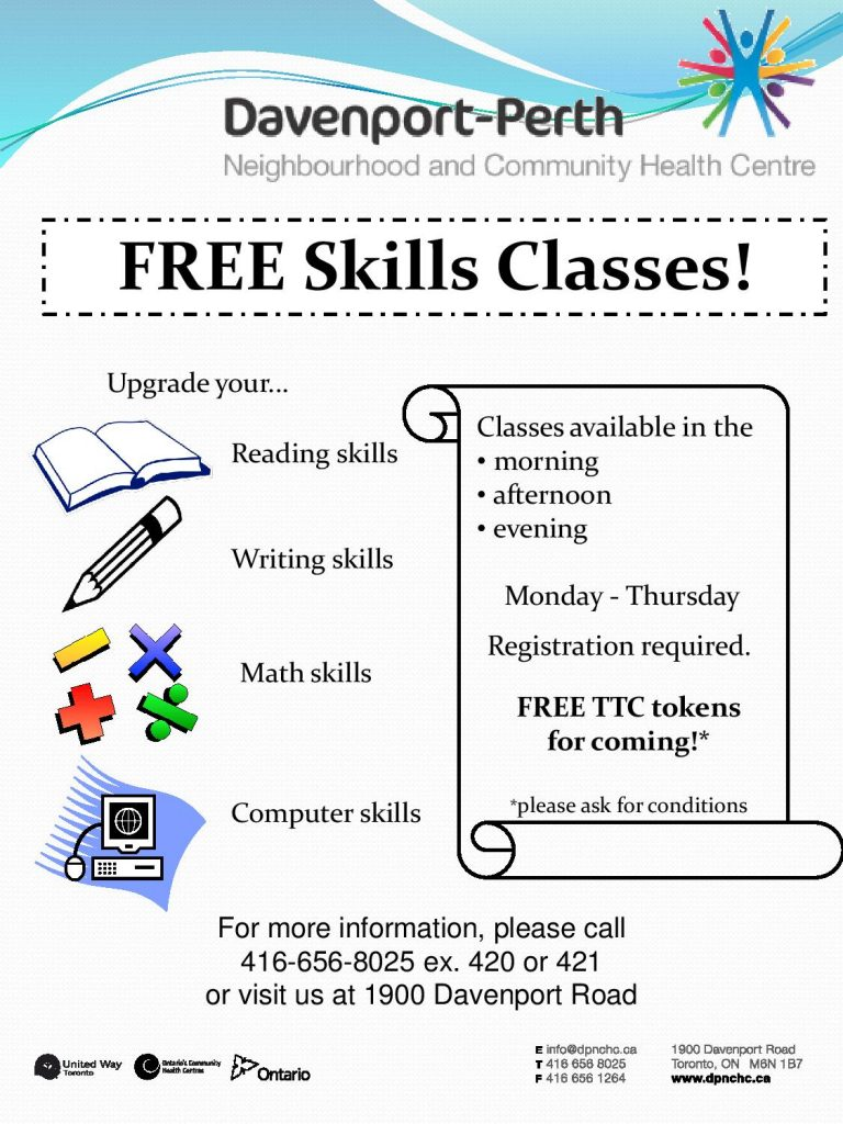 Free Skills Classes Poster
