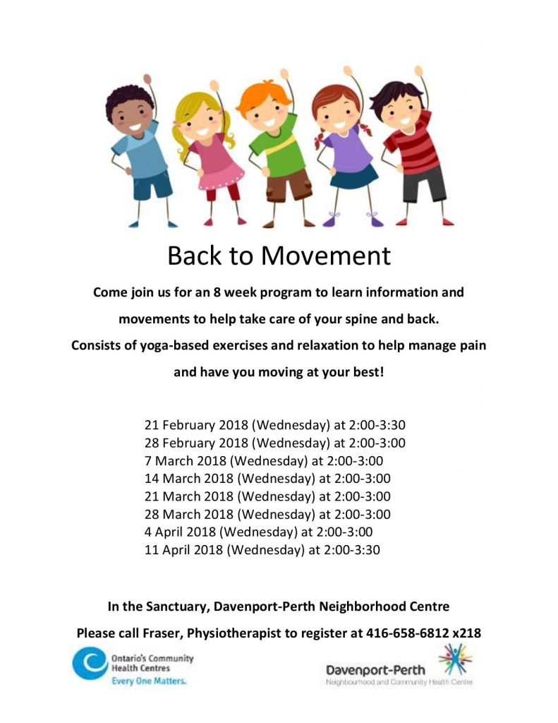 Back to Movement Program Flyer