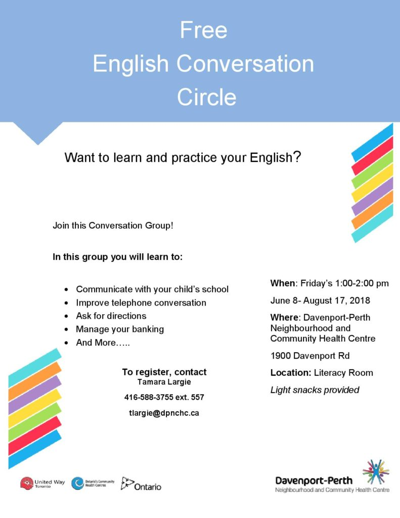 English Conversation Circle Flyer 2018