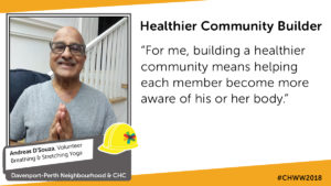 Andreas - Community Health and Wellbeing Week