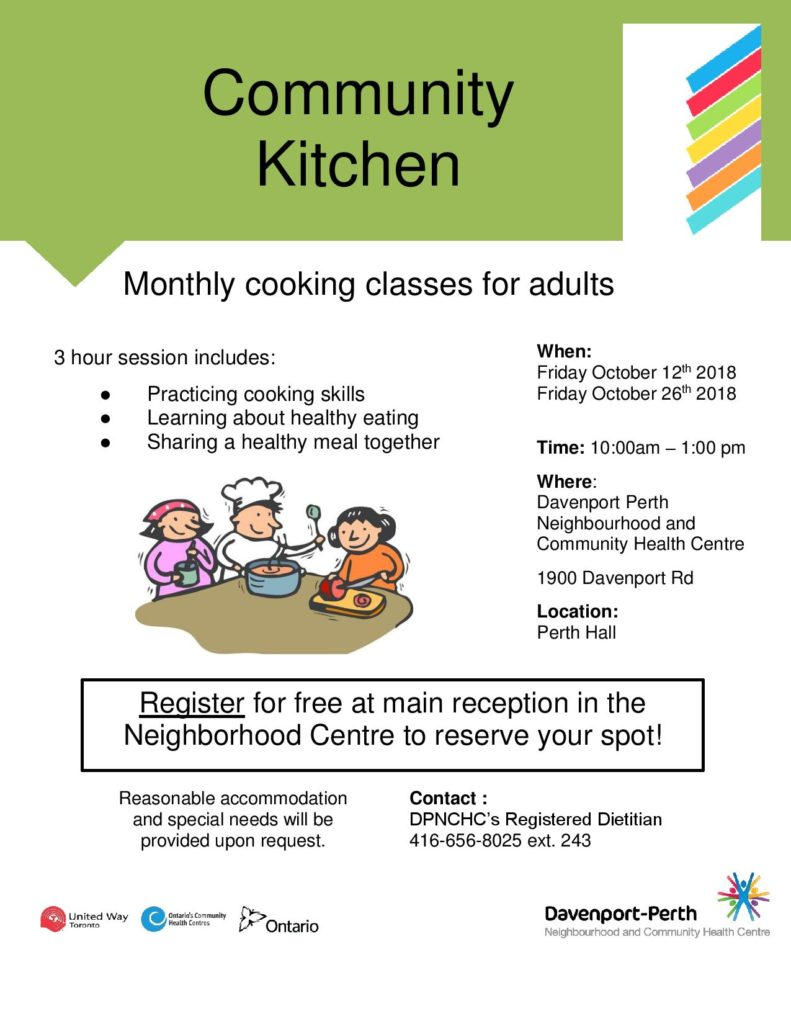 Community Kitchen - October Sessions
